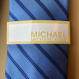 Michael Kors Blue Striped Tie New With Tags Men's